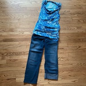 Oh Baby Maternity Crop Jeans Large